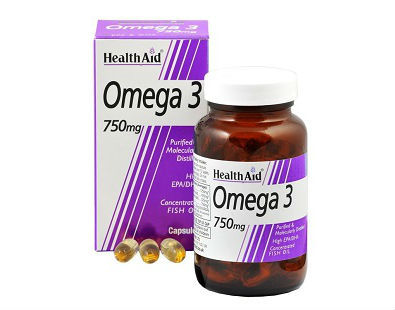 Health Aid Omega-3 fish oil fatty acids supplement
