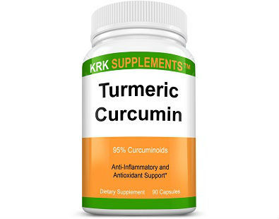 KRK Supplements Turmeric Curcumin supplement