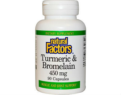 Natural Factors Turmeric & Bromelain supplement