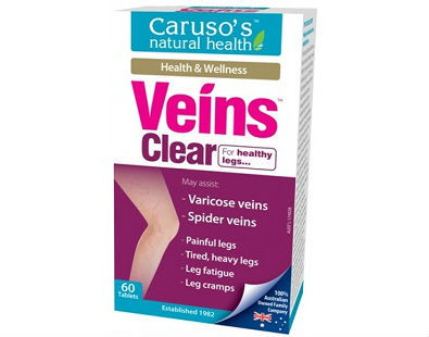 Caruso's Natural Health Veins Clear for spider and varicose veins