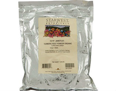 Starwest Botanicals Organic Turmeric Root Powder supplement