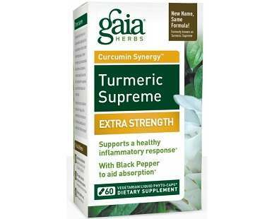 Gaia Herbs Turmeric Supreme Extra Strength supplement Review