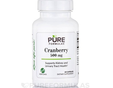 Pure Formulas Cranberry for UTI Infections Review