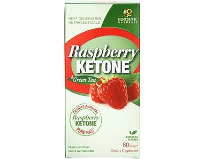 Genceutic Naturals PURE RAS Raspberry Ketone for Weight Loss
