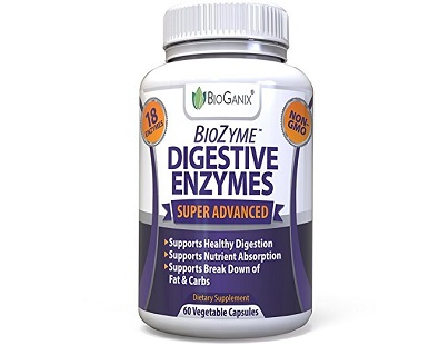 BioGanix BioZyme Digestive Enzymes for IBS Relief