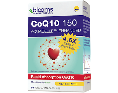 Blooms CoQ10 150 Aquacelle for Health & Well-Being