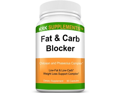 KRK Supplements Fat & Carb Blocker for Weight Loss
