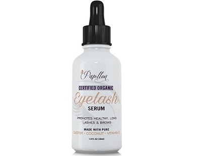 Papillon Certified Organic Eyelash Serum for Eye Lash & Eye Brow