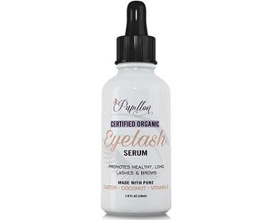 Papillon Certified Organic Eyelash Serum for Eye Lash & Eye Brow