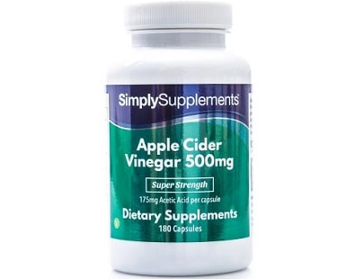 Simply Supplements Apple Cider Vinegar for Health & Well-Being