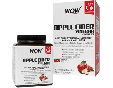 WOW Life Science Apple Cider Vinegar for Health & Well-Being